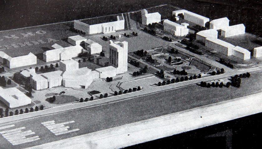 Макет Цэнтральнай плошчы на фота 1980-х.