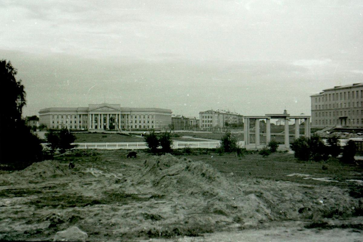 Земляныя работы ў парку ў 1950-я гады