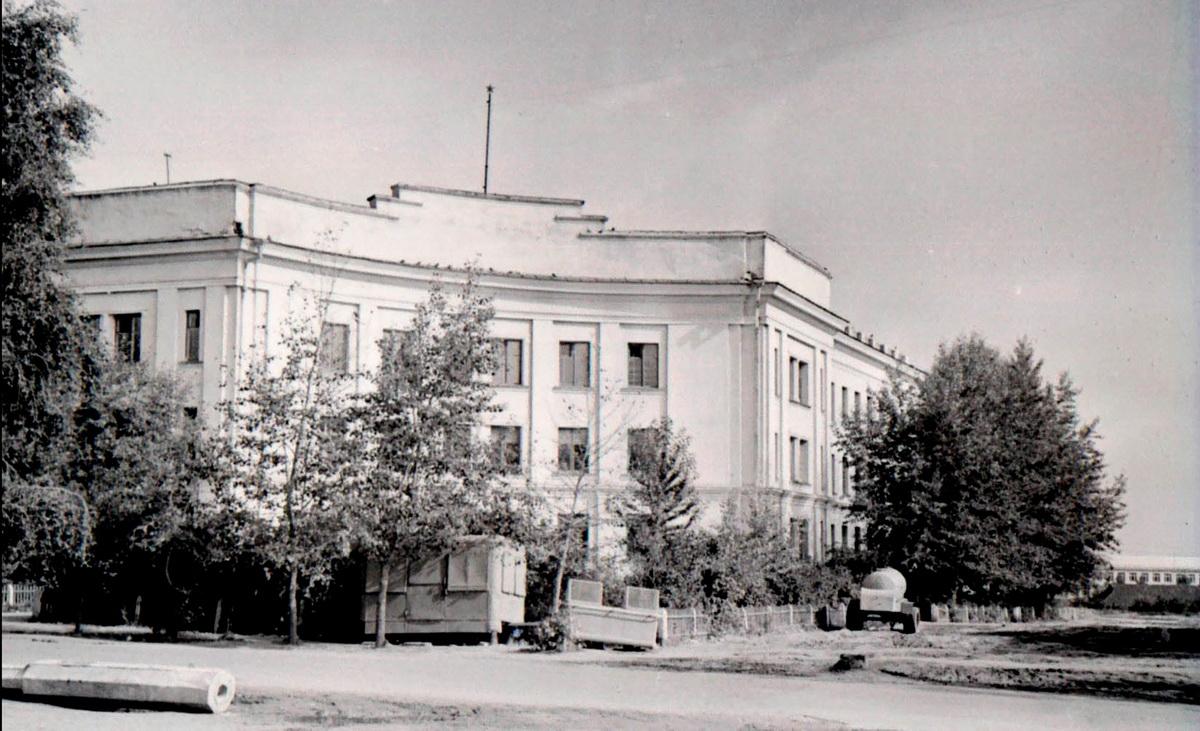 Будынак Маладзечанскага музычнага вучылішча ў пачатку 1960-х