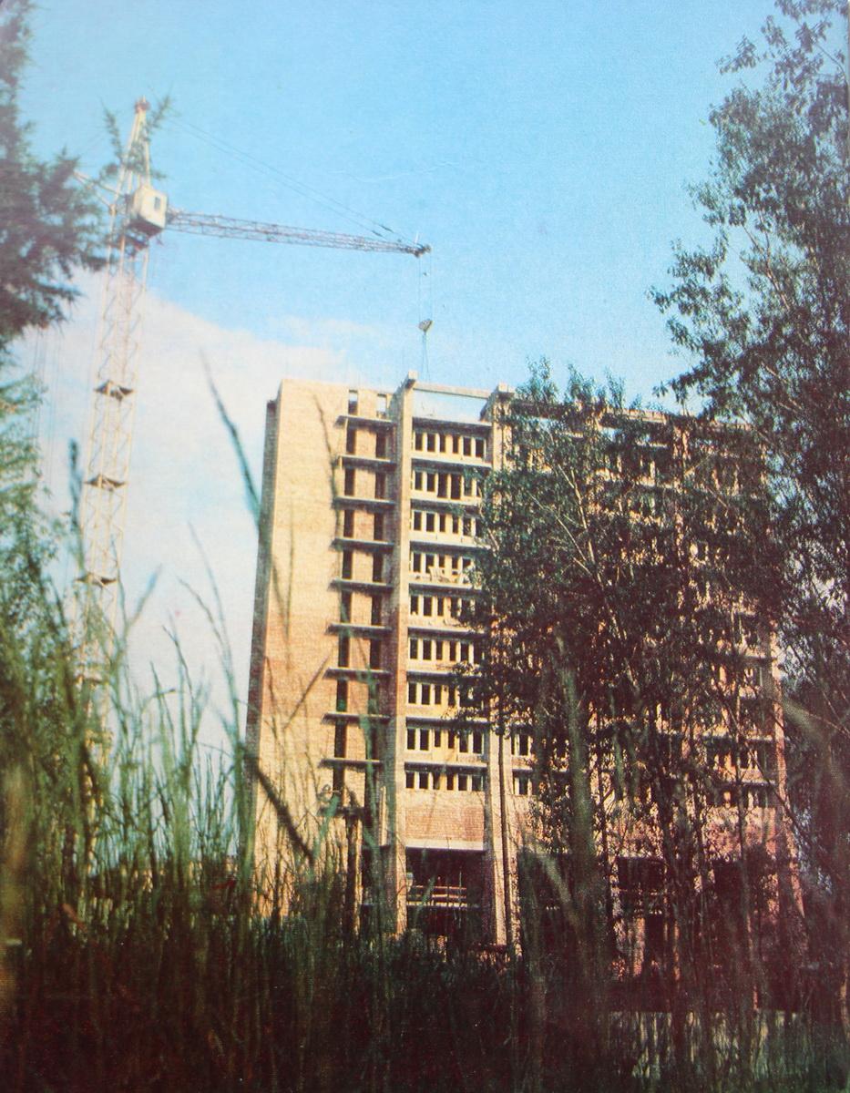 """1980-я, пабудова гасцініцы """"Маладзечна"""""""