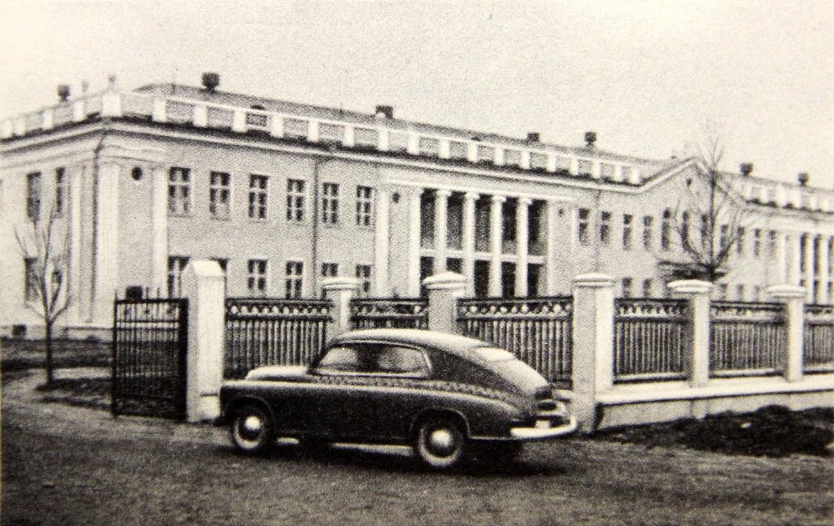 Абласная (цяпер раённая) дзіцячая бальніца, сярэдзіна 1950-х.