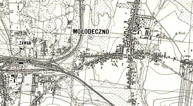 Карта Маладзечна 1934 года